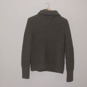Banana Republic Italian Yarn Knit Green Sweater